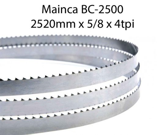 Bandsaw Blades - 2520 X 5/8 X 4TPI <br> (pkt 4)