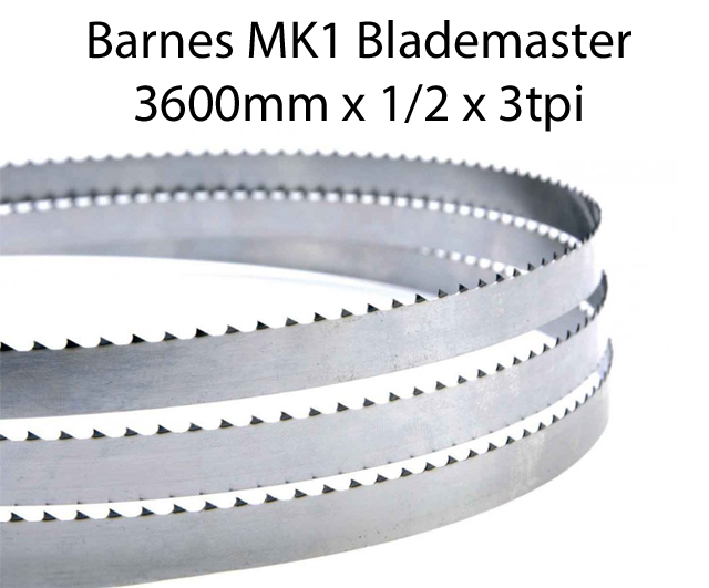 Edge Bandsaw Blades 3600 X 1/2 X 3TPI <br> (pkt 4)|Bandsaw Blades| Barnco