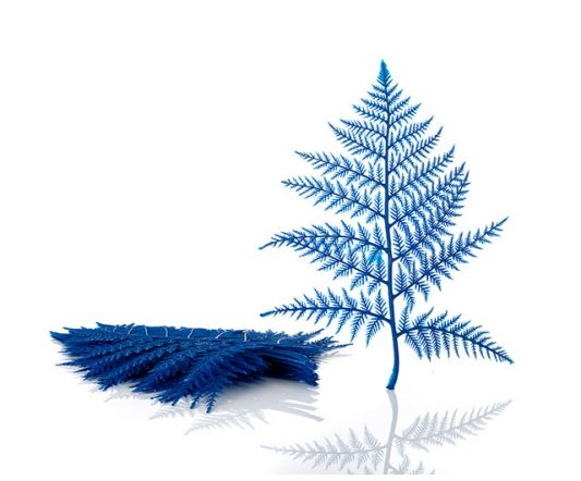 Plastic Display Ferns Blue (doz.)|Window Display|Barnco