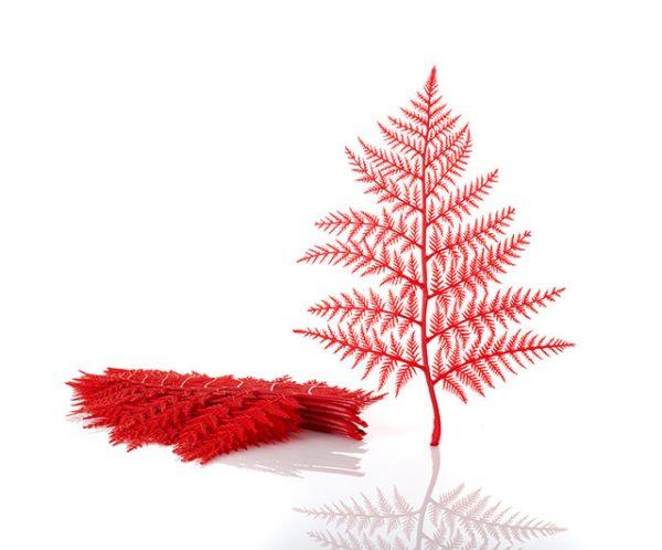 Plastic Display Ferns Red (doz.) Window Display Barnco