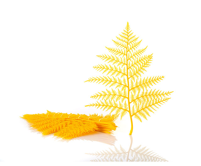 Plastic Display Ferns Yellow (doz.)|Window Display| Barnco