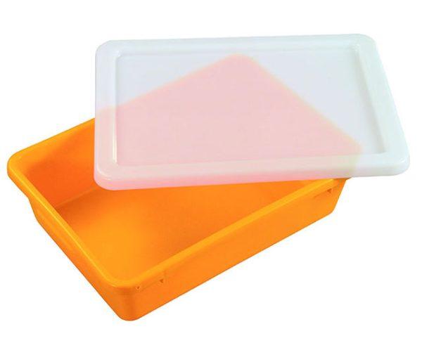 22L Solid Crate IH059 (#5) Orange Nally Tubs Barnco