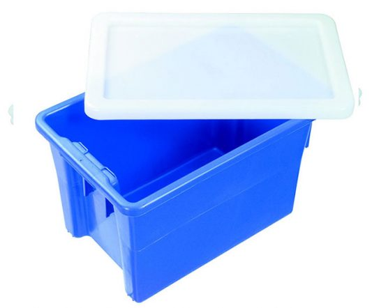 68L Solid Crate IH078 (#15) Blue|Nally Tubs|Barnco