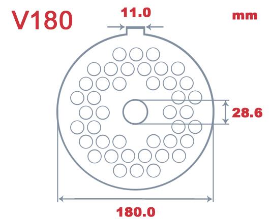 V180 Speco 14mm Hole Plate|Velati V180| Barnco