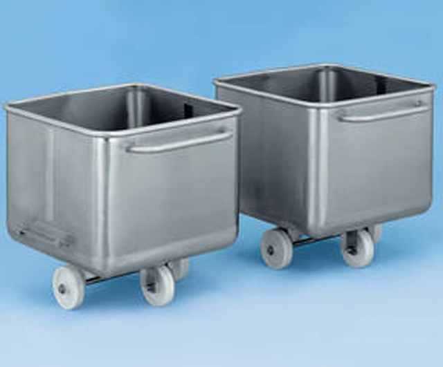 200L S/S Dump Bin Trolley Stainless Bin Trolleys  Barnco