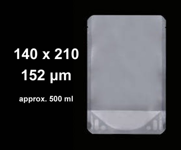 Stand-Up Pouches Clear 140 x 210 (pkt 100)|Stand-Up Pouches|Barnco