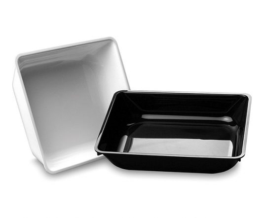 MTA Deli Dish 295 x 247 x 63mm Black|Display Trays|Barnco