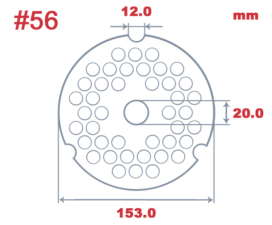 "#500 Speco 5.0mm (3/16"") Hole Plate