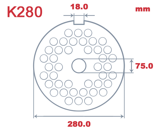 K280 L&W 5.0mm Hole Plate|Unger K280| Barnco
