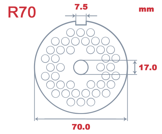 R70 L&W 10mm Hole Plate|Unger R70| Barnco